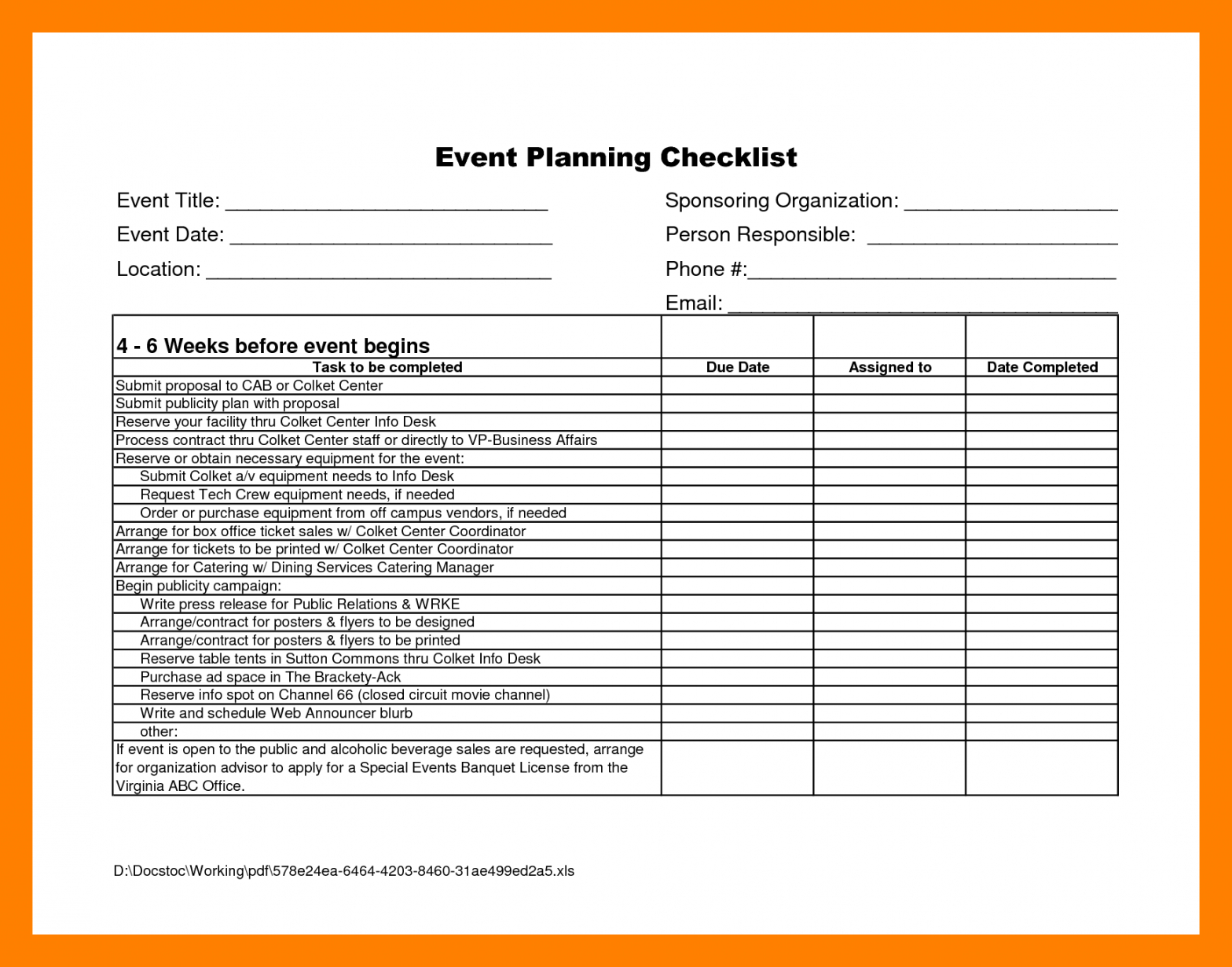 printable √ free printable corporate event planning checklist corporate event planning checklist template doc