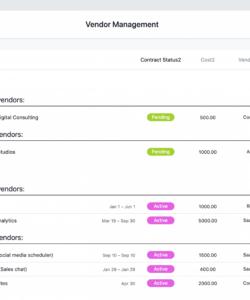 printable vendor management template  risk assessment & third party vendor management checklist template excel