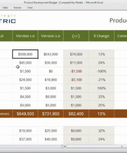 product development budget template product launch budget template doc