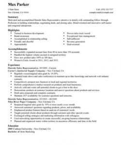 professional outside sales representative resume examples outside sales job description template doc