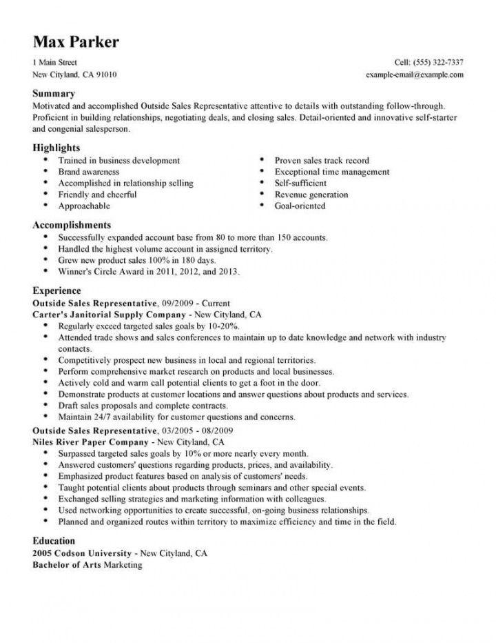 professional outside sales representative resume examples outside sales job description template doc