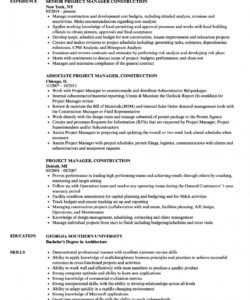 project manager construction resume samples  velvet jobs construction project manager job description template pdf