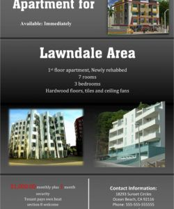 rental flyer template  johannes kr apartment rental flyer template