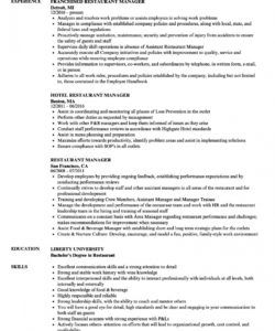 restaurant manager resume samples  velvet jobs restaurant manager job description template pdf