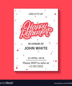 retirement party invitation royalty free vector image retirement announcement flyer template