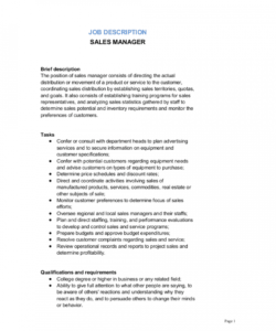 sales manager job description template  by businessinabox™ sales manager job description template doc