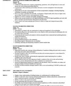 sales & marketing director resume samples  velvet jobs sales director job description template pdf