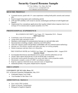 security guard resume sample & writing tips  resume companion security officer job description template pdf