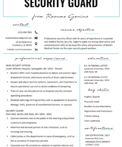 security guard resume sample & writing tips  resume genius security officer job description template