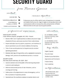 security guard resume sample & writing tips  resume genius security officer job description template