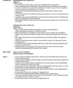 senior executive assistant resume samples  velvet jobs executive assistant job description template doc