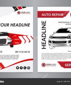 set a4 auto repair business layout templates automobile magazine cover  auto repair shop brochure mockup flyer vector illustration 140611912 auto shop flyer template pdf