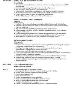 social media internship resume samples  velvet jobs social media intern job description template
