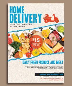 supermarket groceries delivery flyer template by hotpin on food delivery flyer template pdf