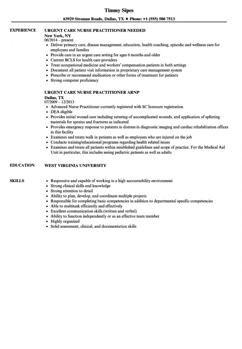 urgent care nurse practitioner resume samples  velvet jobs nurse practitioner job description template and sample