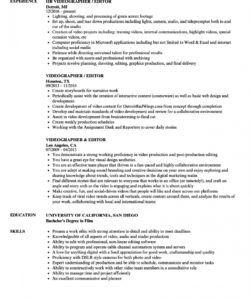 videographer editor resume samples  velvet jobs videographer job description template and sample