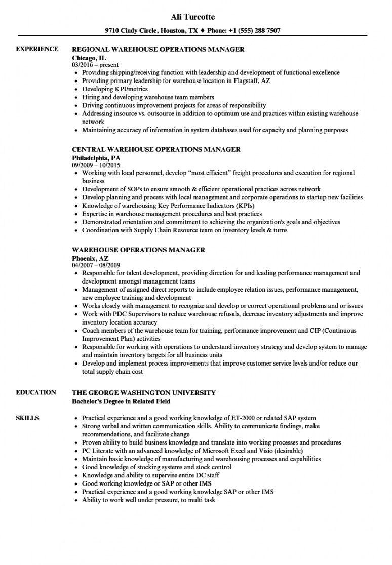 warehouse operations manager resume samples  velvet jobs warehouse manager job description template pdf