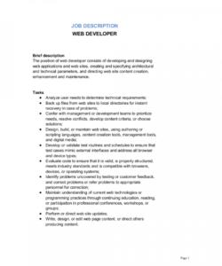 web developer job description template  by businessinabox™ web designer job description template