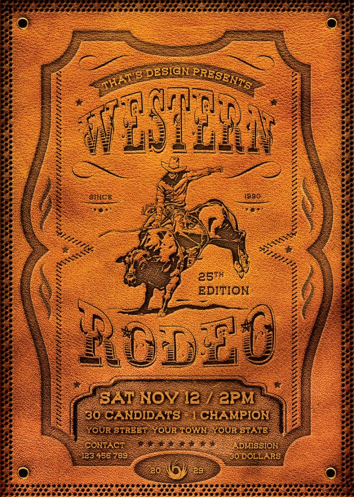 western rodeo flyer template  free posters design for photoshop bike rodeo flyer template