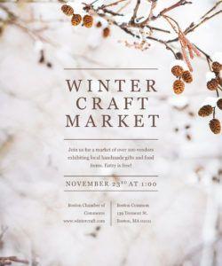 winter craft fair flyer template psd  docx craft show flyer template