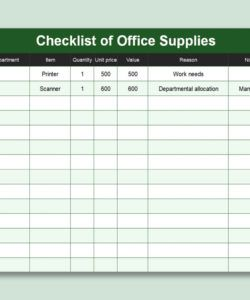wps template  free download writer presentation office supply checklist template examples