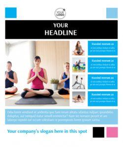 yoga class flyer template  mycreativeshop yoga class flyer template doc