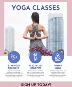 yoga class poster yoga class flyer template doc