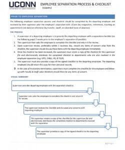 10 termination checklist examples  pdf  examples employment termination checklist template samples