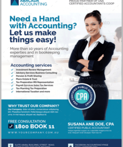 16 accounting & bookkeeping services flyer templates  psd tax preparer flyer template doc