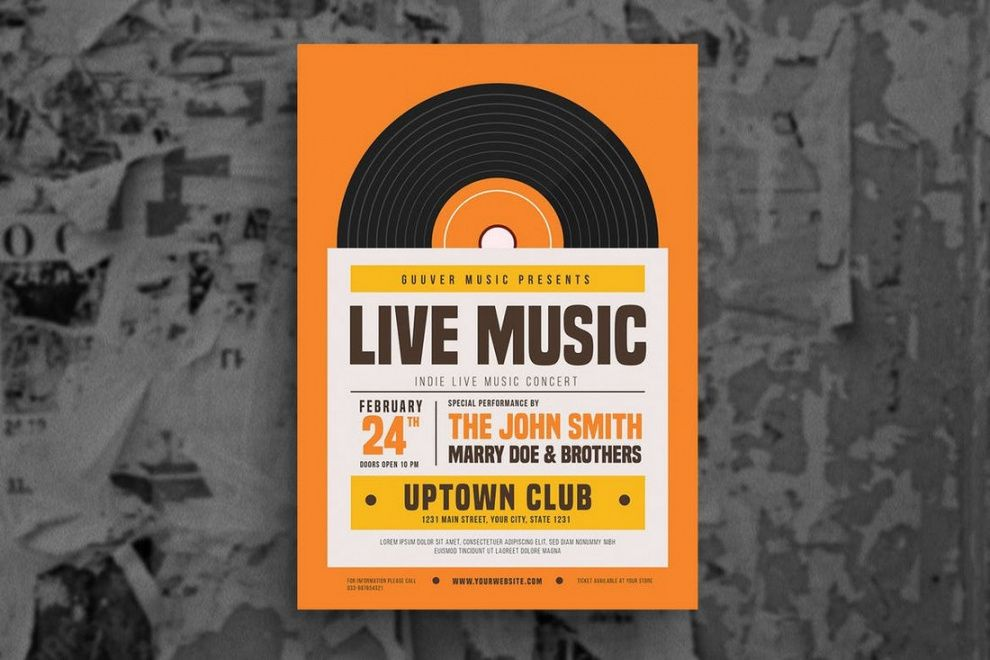 30 best music & band flyer templates  design shack live music flyer template and sample