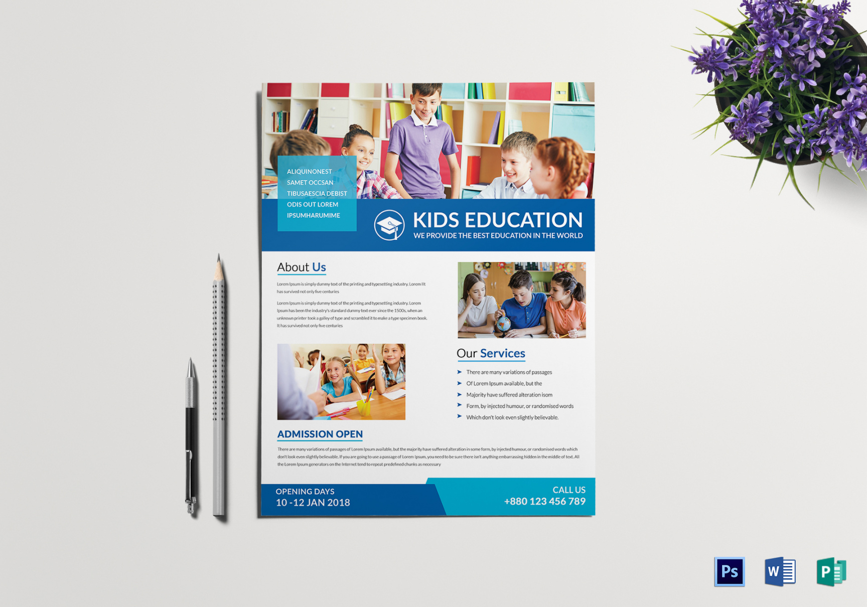 32 school flyers templates  psd ai pages word  free summer tutoring flyer template doc