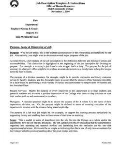 47 job description templates & examples ᐅ templatelab hr job description template pdf