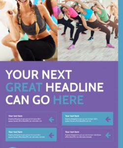 aerobics class poster template  mycreativeshop exercise class flyer template and sample