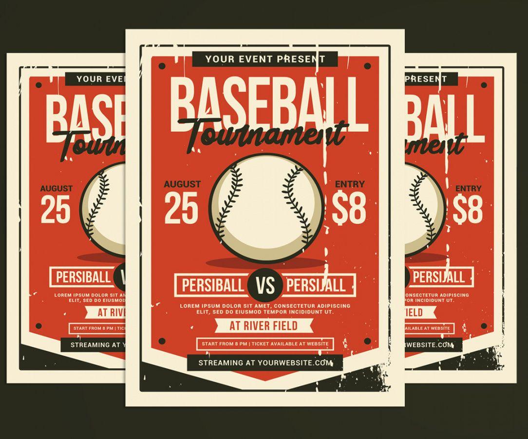 baseball tournament flyer corporate identity template baseball tournament flyer template