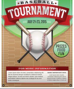 baseball tournament flyer royalty free vector image baseball tournament flyer template and sample