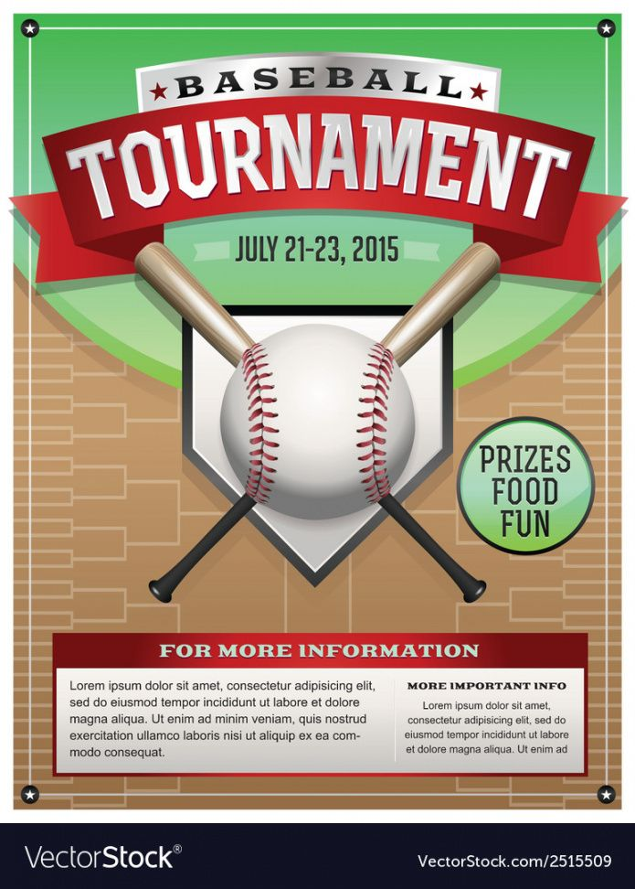 baseball tournament flyer royalty free vector image baseball tournament flyer template and sample