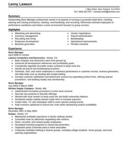 best store manager resume example  livecareer retail manager job description template pdf