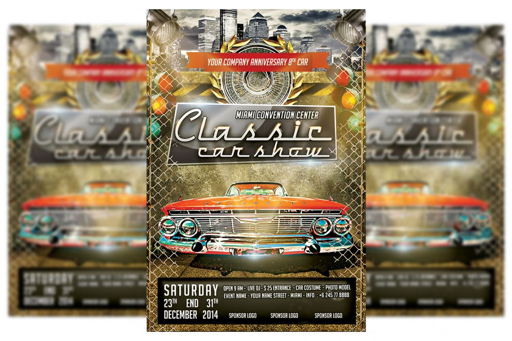 classic car show flyer 4 classic car show flyer template and sample