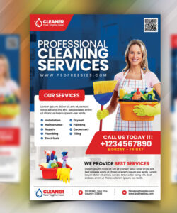 cleaning service flyer psd  psdfreebies cleaning company flyer template and sample