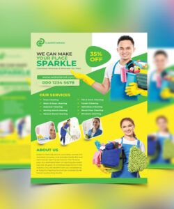 cleaning services flyer template on behance cleaning company flyer template and sample