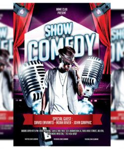 comedy show flyer template comedy show flyer template and sample