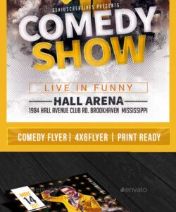 comedy show open mic flyer template v5 comedy show flyer template pdf