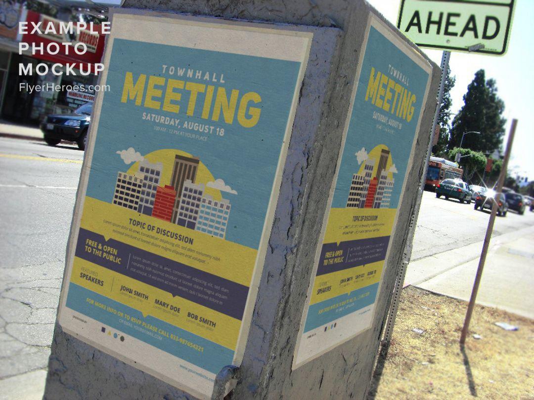 community meeting flyer template v2  flyerheroes neighborhood meeting flyer template