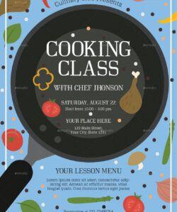 cooking class 2 flyer template cooking class flyer template pdf