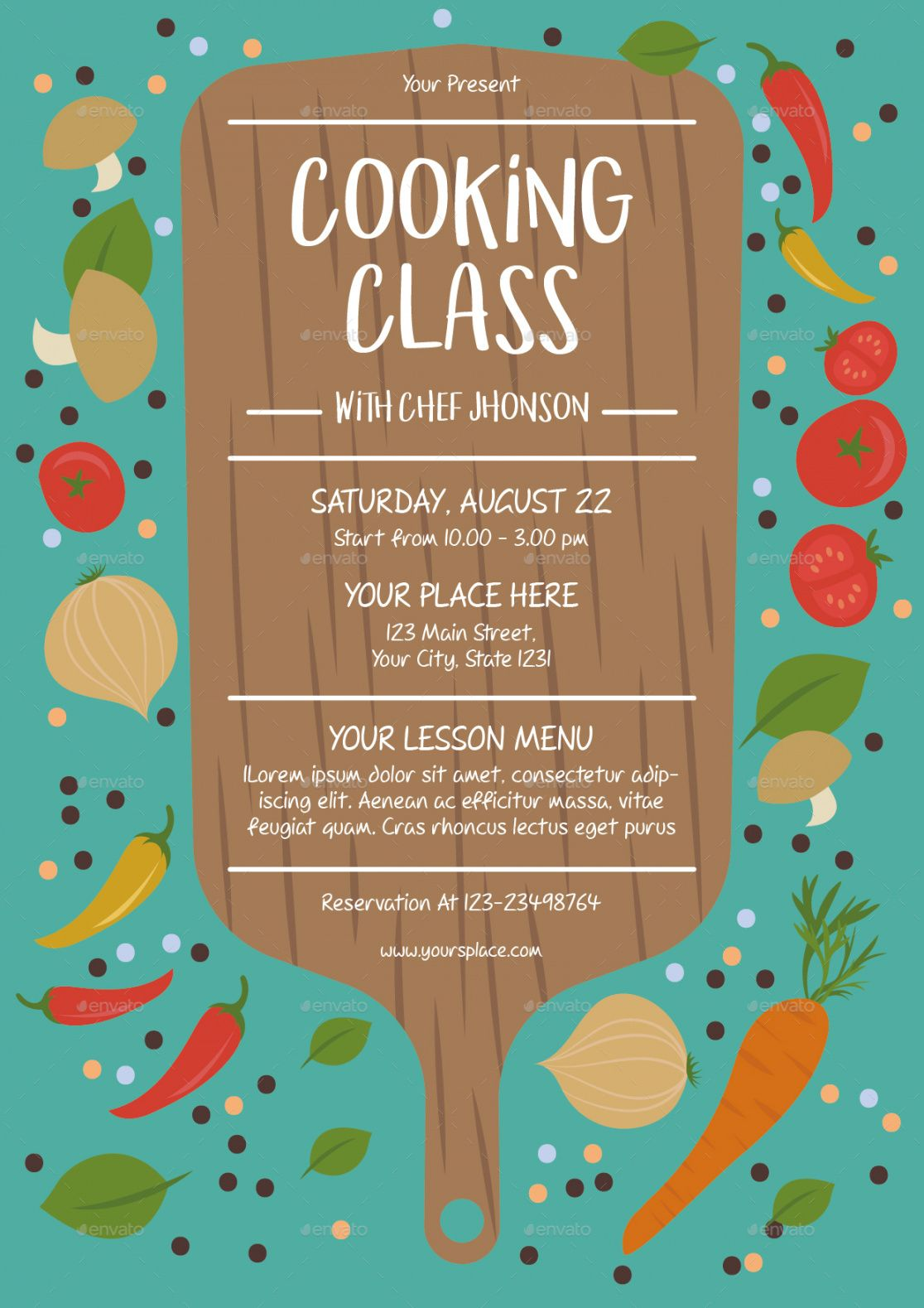 cooking class flyer template cooking class flyer template and sample