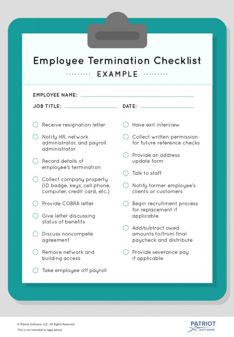 editable employee termination checklist  how to stay compliant employment termination checklist template
