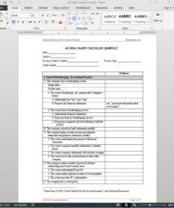 editable financial audit checklist template  ac10503 financial audit checklist template doc