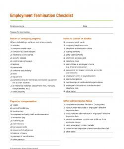 editable free 4 employee termination checklist forms in ms word employment termination checklist template examples