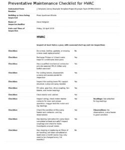 editable free preventative maintenance checklist for hvac hvac inspection checklist template pdf