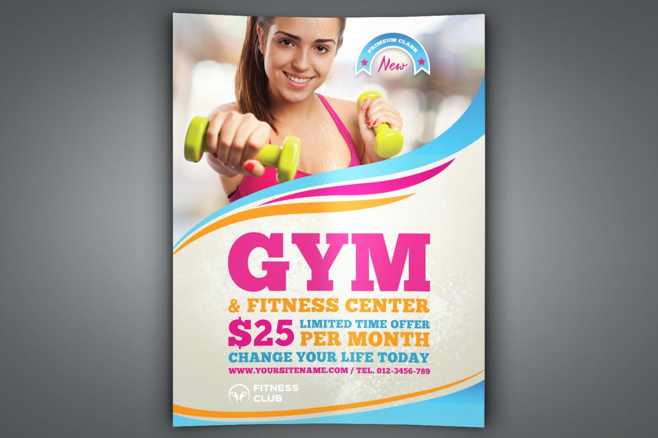 fitness  gym flyer template gym open house flyer template pdf